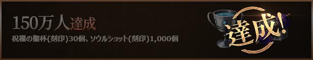 150万人達成